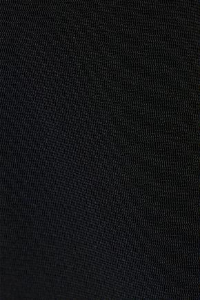 MUGLER Tulle-paneled ponte dress