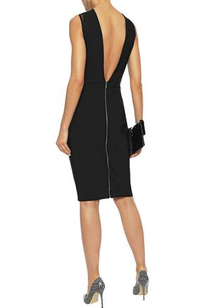 MUGLER Tulle-paneled ponte dress