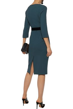 GOAT Belted wool-crepe dress