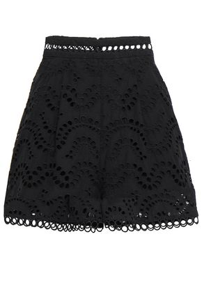 ZIMMERMANN Jaya Wave broderie anglaise cotton shorts