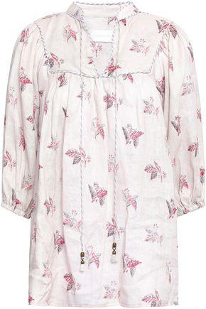 ZIMMERMANN Floral-print linen-gauze blouse