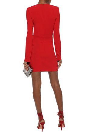MUGLER Appliquéd crepe mini dress