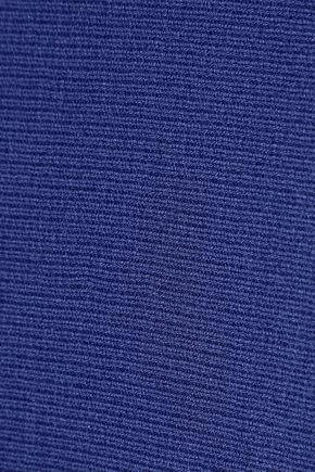 MUGLER Fluted stretch-knit midi dress