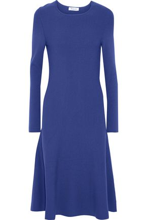 MUGLER Fluted stretch-knit midi dress