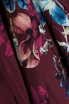NICHOLAS Floral-print silk crepe de chine maxi wrap dress