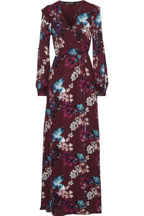 NICHOLAS Floral-print silk crepe de chine maxi wrap dress
