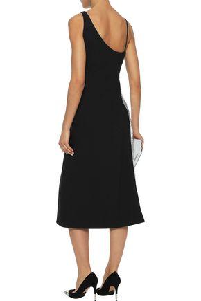 MUGLER Asymmetric cutout sequin-embellished crepe dress