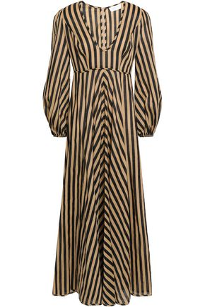 ZIMMERMANN Striped cotton midi dress