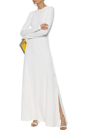 MICHAEL LO SORDO Backless ribbed stretch-jersey maxi dress