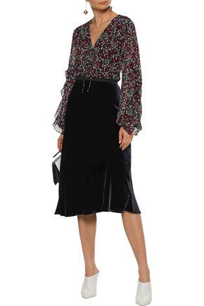 a7ac34d5fd71 NICHOLAS Bow-detailed ruffle-trimmed floral-print silk-georgette blouse