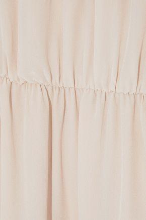 ANINE BING Silk crepe de chine maxi dress
