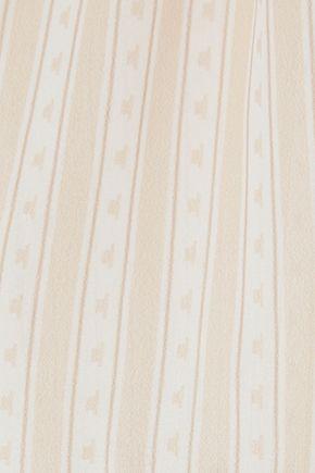 ANINE BING Layered printed chiffon maxi dress