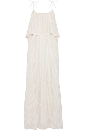 ANINE BING Layered printed chiffon maxi dress