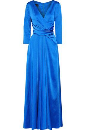 TALBOT RUNHOF Pokario wrap-effect gathered satin gown