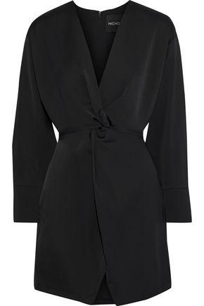 NICHOLAS Twist-front satin-crepe mini dress