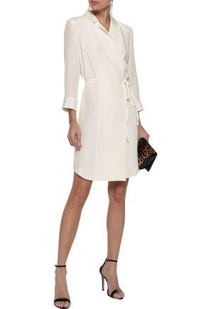 ANINE BING Nina silk crepe de chine wrap dress