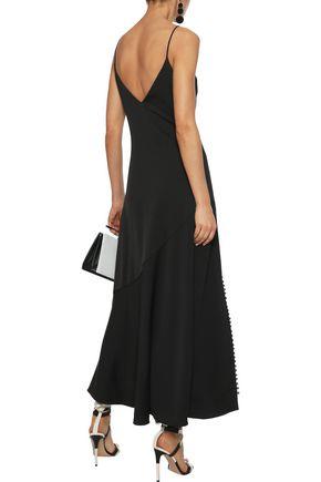 NICHOLAS Satin-crepe maxi slip dress