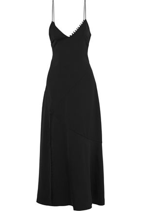 NICHOLAS Satin-crepe maxi slip dress