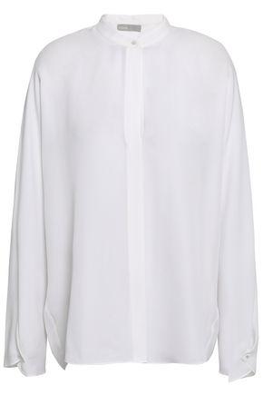 VINCE. Silk-crepe blouse