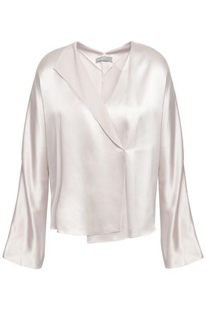 VINCE. Wrap-effect silk-crepe blouse