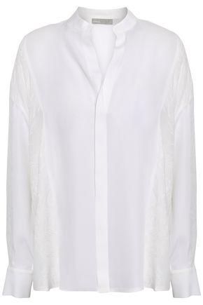 VINCE. Silk-jacquard blouse