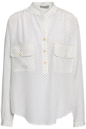 VINCE. Polka-dot silk crepe de chine shirt