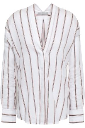 VINCE. Striped gauze blouse