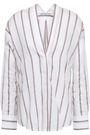 VINCE. Striped gauze blouse
