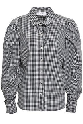 FRAME Gingham cotton-poplin shirt