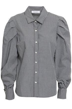 FRAME Gingham cotton-poplin shirt