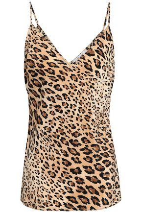 FRAME Leopard-print silk camisole