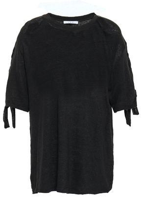 IRO Lace-up slub linen-jersey T-shirt