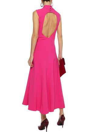 KHAITE Coleen open-back stretch-crepe midi dress