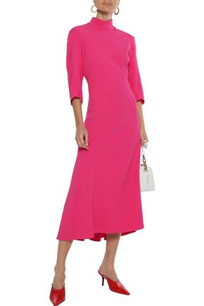 KHAITE Sabrina cutout stretch-crepe midi dress
