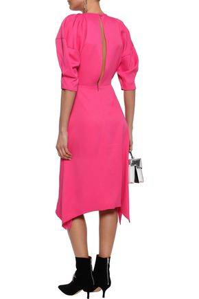 KHAITE Cynthia gathered washed-crepe midi dress