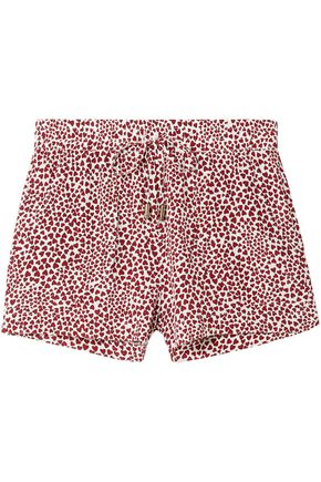 ANINE BING Ashley printed washed-silk pajama shorts