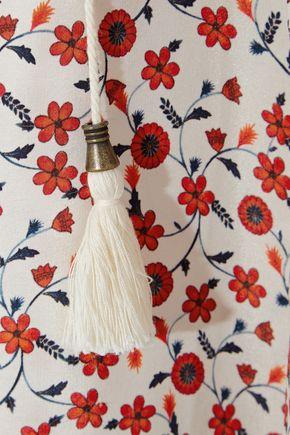 ANINE BING Floral-print silk crepe de chine maxi dress