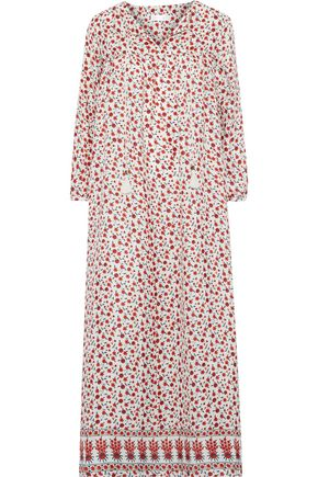 ANINE BING Floral-print silk crepe de chine maxi dress