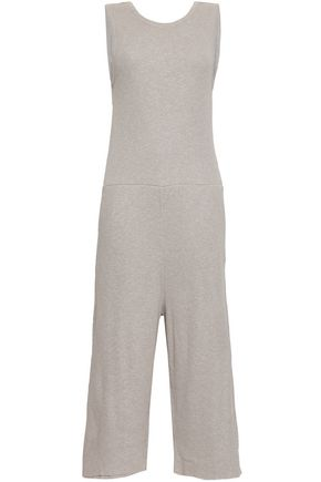 AMERICAN VINTAGE Cutout cropped ribbed-knit jumpsuit