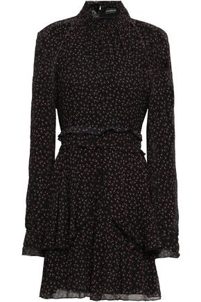 NICHOLAS Floral-print georgette mini dress