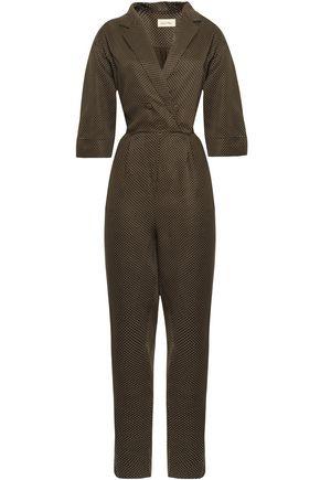 AMERICAN VINTAGE Dalida wrap-effect polka-dot twill jumpsuit