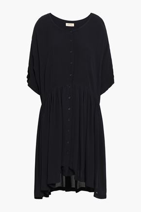 AMERICAN VINTAGE Gathered crepe shirt dress