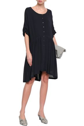 AMERICAN VINTAGE Gathered crepe shirt dress