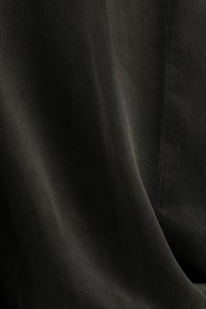 AMERICAN VINTAGE Gathered washed-silk jumpsuit