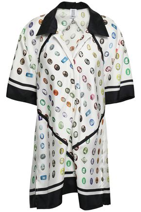 ROSIE ASSOULIN Printed silk-twill shirt