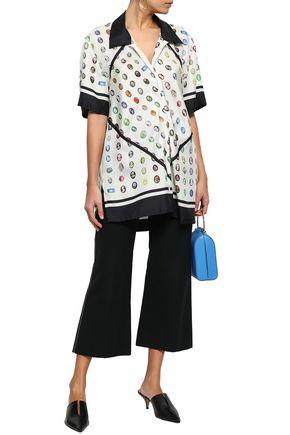 ROSIE ASSOULIN Printed silk-twill shirt