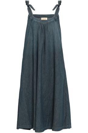 AMERICAN VINTAGE Bow-detailed cotton-twill midi dress