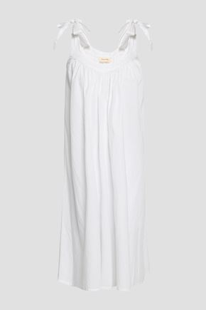 AMERICAN VINTAGE Limonade bow-detailed cotton-gauze midi dress