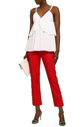 ROSIE ASSOULIN Layered pleated woven top