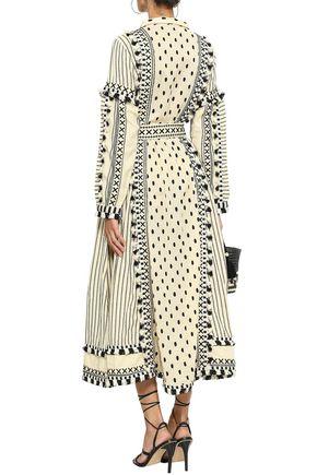 DODO BAR OR Tasseled embroidered cotton-gauze midi dress